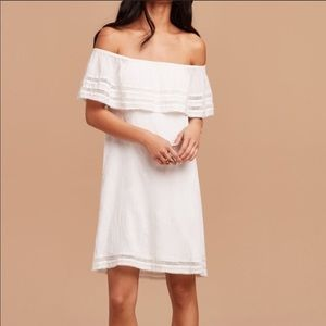 Off the shoulder white summer dress